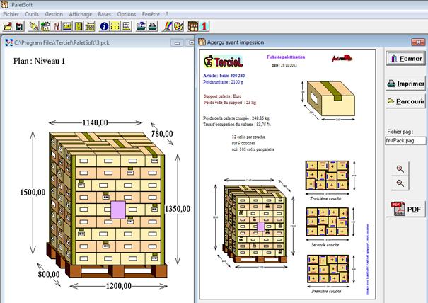 logiciel de palettisation